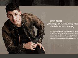 Nick Jonas in Dexcom diabetes campaign